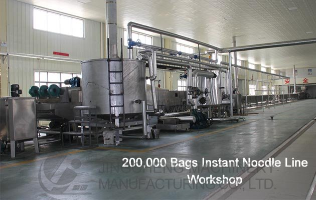 Workshop of Fired Instant Noodle Production Line